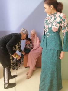 Models at Catalogue shoot for Poplook 04