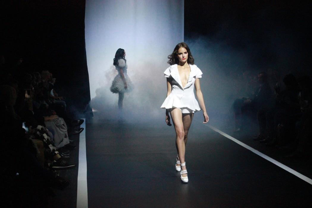 evergreen talents models on a catwalk