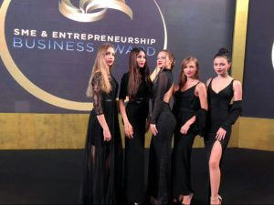 models at sme awards event