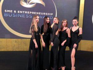 models at sme awards event